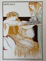 Robert Anning Bell Herodias 1898 Gravure Lithographie
