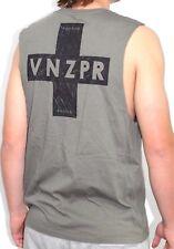 Men's VZ Vonzipper Positive Olive Muscle Tank, Size M. NWT, RRP $49.99.