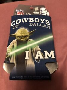 DALLAS COWBOYS NFL STAR WARS CAN COOLER YODADouble Sided