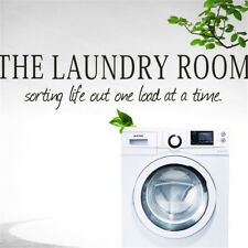 Wall sticker the laundry room Quote Removable Decal Room Wall Sticker Decor E&F