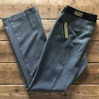 Express Editor Dress Pants Women's Size 12R Barely Boot Gray Black 35 x 32 NEW