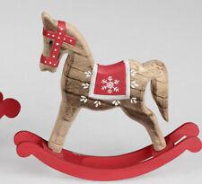 Formano Schaukelpferd Holz natur rot ca. 23,5 x 23 cm handbemalt 537560 �™�