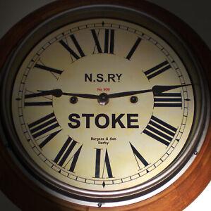 Custom Retro Clock, Victorian Wooden Station Clock, Bespoke Dial Made to Order.