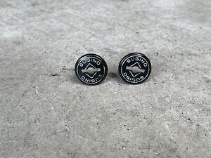 Vintage Black Sugino Dust Caps - Crank Bolt Covers - Old School BMX Road