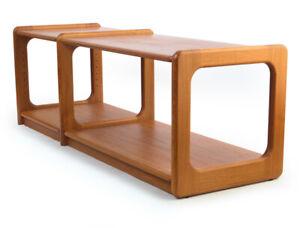 Teak Side-Board HiFi-Rack Tisch Regal Dyrlund Denmark 60/70er Midcentury