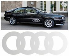 x2 Audi Ur Quattro Door Ring Stickers Laminated with Silver Dotted Fade Effect