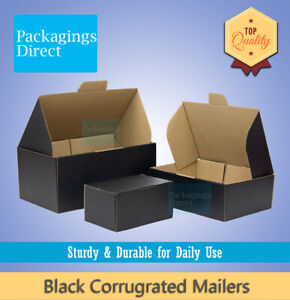 Black Corrugated Box Mailer High Quality Mailing Box Shipping Carton