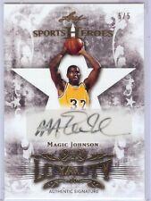 2013 Sports Heroes Leaf Magic Johnson LA Lakers Loyalty Autograph Signature 5/5
