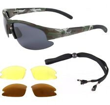 CAMOUFLAGE FISHING SUNGLASSES Polarised, Also For Shooting, Carp Angling, Sports