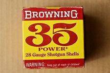 Browning 35 Power 28 Gauge Empty Shotgun Shell Box