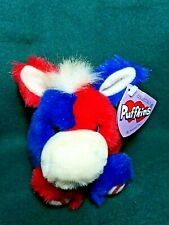 """Swibco Puffkins Plush """"STRIPES"""" the Patriotic/Political Donkey"""