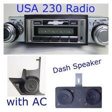 1966 1967 66 67 Chevelle El Camino USA 230 Radio + Dash Speaker + Kick Panels