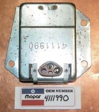 Dodge 1970-1987 NOS OEM Mopar 12V Voltage Regulator Stamp 4111990 Made in USA