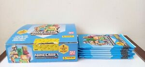 Panini Minecraft Adventure Trading Cards 18 packets open box