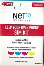 Net10 VERIZON cell network Triple Sim Card 3-in-1 Mini Micro Nano for BYOP phone