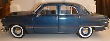 USA MODELS BY PRECISION MINIATURES 1950 FORD CUSTOM 4-DR SEDAN BLUE 1/18 SCALE