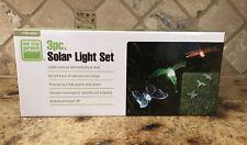 "SOLAR 30"" Light Set/3 pc;Humming Bird, Dragonfly, Butterfly;Outdoor Garden Decor"