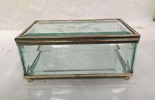 Etched Glass Jewelry-Trinket Box -