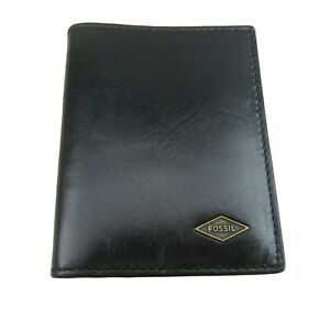 Fossil Ryan RFID Card Case Bifold Black Leather Mens Wallet NEW ML4248001