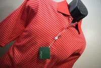 39946 New Bobby Jones Performance Short Sleeve Striped Golf Polo Shirt Medium