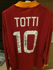 TOTTI MAGLIA MATCH WORN SHIRT ROMA 2011-12 AUTOGRAFATA SIGNED