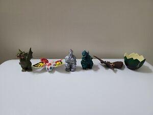 Vintage 1994 TOHO Mecha Godzilla Ghidorah Mothra Figure Trendmasters 6 Piece Lot