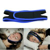 Snore Stop BLUE Belt Anti Snoring Cpap Chin Strap Sleep Apnea Jaw Solution TMJ
