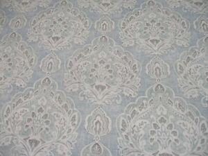 COLEFAX & FOWLER CURTAIN FABRIC 'LISMORE - OLD BLUE' 5 METRES 100% LINEN