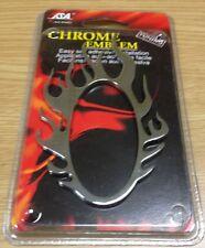 3D ACCENT TRIM FIRE BALL FLAMES CHROME CAR SUV ABS EMBLEM LOGO BADGE E-1501PS