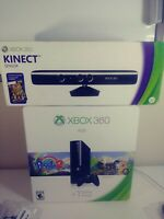 New Open Box Microsoft Xbox 360 E 4GB Bundle Console Kinect Sealed Black