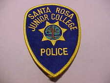 CALIFORNIA SANTA ROSA JUNIOR COLLEGE POLICE PATCH SHOULDER SIZE