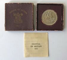 1951 Royal Mint FESTIVAL OF BRITAIN George VI Silver CROWN PIECE;K236
