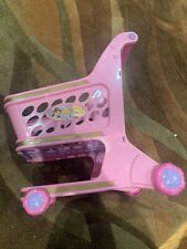 Disney Princess Pink Push/Walk Shopping Cart walker Toy Belle, Cinderella,Aurora