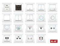 EL-BI ZENA UP Schalterprogramm Design Schalterserie Serie weiß auch LED Diode