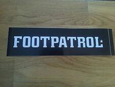 FOOTPATROL CLASSIC BOX LOGO BLACK WHITE SKATEBOARD VINYL STICKER FOOT-PATROL