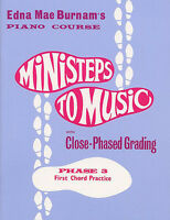 Ministeps To Music Phase Three: First Chord Practise Piano Sheet Music Instrumen