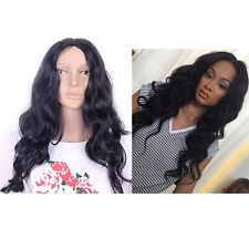 Black Full Long Wigs Wave Curly Loose Hair Synthetic Costume Cosplay Afro Women