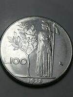 REPUBBLICA ITALIANA - MONETA 100 LIRE - 1978. MINERVA - RIGA DI METALLO - N40