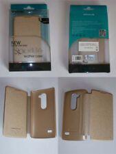 LG Leon H340n Book Case Flip cover Nillkin gold color