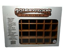 Shot Glass Collector's Cabinet, 35 Openings, Sliding Front, 14 x 20, Maple, USA