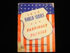 1943 World Series Program - Yankees @ Cardinals - Unscored - Poor/Fair