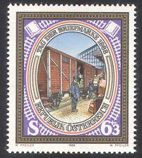 Austria 1988 Trains/Mail Van/Rail/Railway Post Office/Stamp Day 1v (n25134)