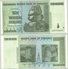 ZIMBABWE - GENUINE $10 TRILLION ($10,000,000,000,000) INFLATION BANKNOTE - UNC!