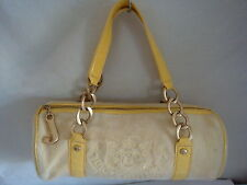 AUTH JUICY COUTURE VELOUR DUFFLE BAG PREOWNED YELLOW