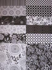 12 Capsula Papermania Bianco e Nero 2 6x6 carte per creazione di Biglietti & Scrapbooking