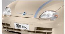 FIAT 600 fregio stemma baffi modanatura anteriore coppia dx sx badge cromati