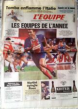 L'Equipe Journal du 22/12/1994; Tomba/ Les Equipes de l'année/ Martini-Roux