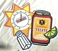 Vintage TECATE CERVEZA Beer Thermometer Tin Beer Bar Sign  - Amazing!  NOS