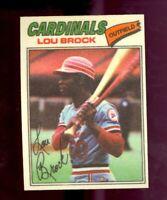 1977 Topps Cloth Stickers #8 Lou Brock St. Louis Cardinals HOF NM/MT