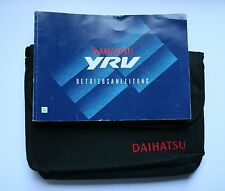 Daihatsu XRV Betriebsanleitung Bedienungsanleitung 2001